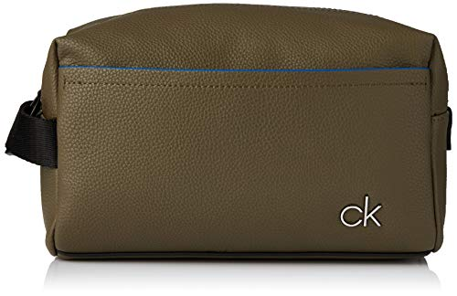 Calvin Klein Ck Direct Washbag - Borse a spalla Uomo, Verde (Olive), 1x1x1 cm (W x H L)