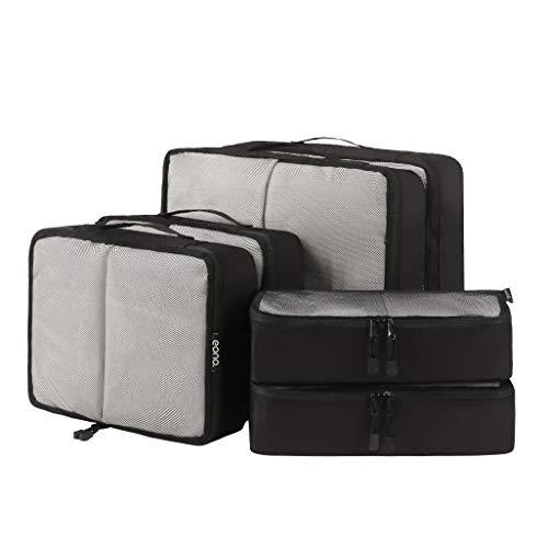 Eono by Amazon - Set di 6 Organizer per Valigie Organizzatori da Viaggio Sistema di Cubo di Viaggio Cubo Borse di Stoccaggio Luggage Packing Organizers Travel Packing Cubes, Rete