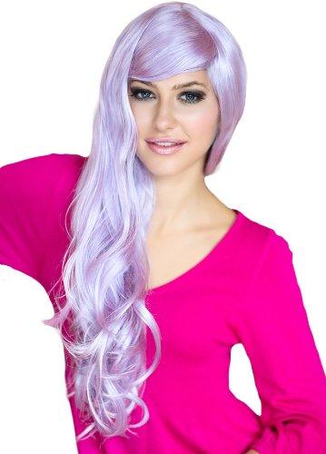 ANNABELLE S parrucche extra lungo parrucca viola chiaro con morbido Tumbling riccioli: viola 250g