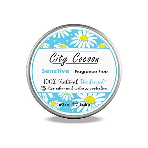 Balsamo deodorante naturale Sensibile   Senza aroma, per pelli sensibili   Bisabololo/Estratto di camomilla   Uomo & donna   Cruelty free   Senza alluminio, parabeni & plastica   60 ml