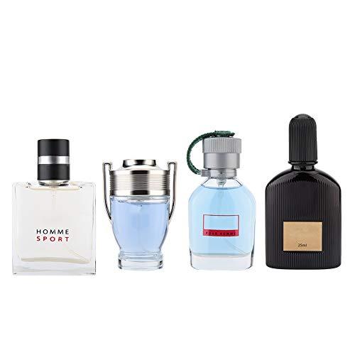 Set di fragranze per uomo, 4 x 25 ml Profumo Liquido Gentleman Profumo Duraturo Profumo di Colonia Natale Ringraziamento Compleanno San Valentino set regalo
