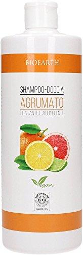 BIOEARTH - Shampoo Doccia Agrumato - Delicato e Fresco - Adatto all'Uso Quotidiano - Vegan - 500 ml