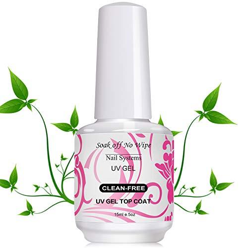 USHION 15ml Soak Off UV LED Water Based No Wipe Top Coat Gel Polacco Nail Art Manicure
