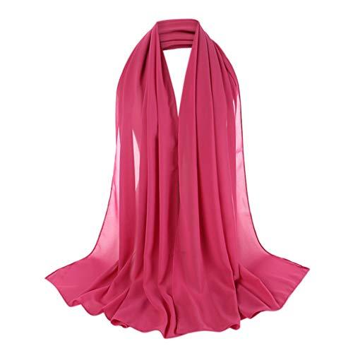 Xmiral Fascia per Capelli Donna Elastico Bandana Cappello Copricapo per Donna Sport Fascia per Capelli fascia per capelli Fascia per lo yoga sportiva per Donna foulard Taglia unica Rosa caldo