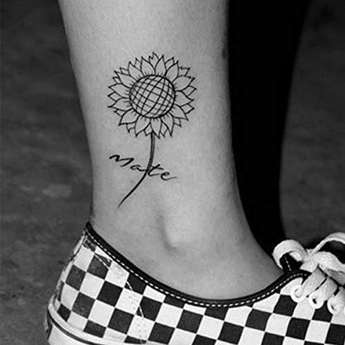 YLGG Adesivi per Tatuaggi temporanei alla Moda Girasole, Adatti per Uomini e Donne, Impermeabili, Rimovibili, atossici e sicuri per Tutte Le Pelli