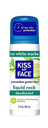 KISS My Face, Liquid Rock, deodorante Roll-On, senza cloridrato di alluminio, al cetriolo e tè verde, 88 ml