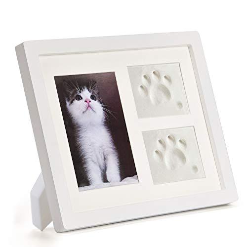 Kit cornici foto le impronte dei gatti o cane , ricordo regali per di animali domestici, ideale come regalo commemorativo per cani o gatti.