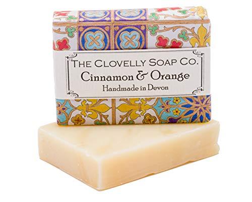 Clovelly Soap Co Saponetta Naturale e Fatta a Mano all'Arancio e Cannella, per Tutti i Tipi di Pelle, 100gr