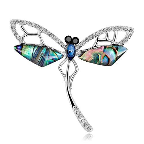 YUTR Pesce Shell Spilla - Retro Lady Fashion Farfalla Libellula Corpetto Donne Abbigliamento Tatuaggi