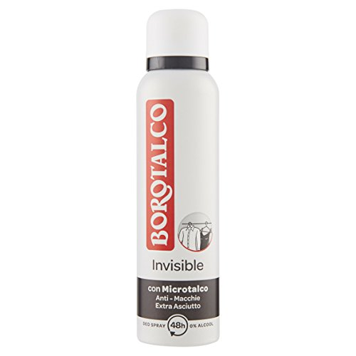 Borotalco Deodorante Invisible Spray 150ml, Profumo Classico di Invisible - Pacco da 12