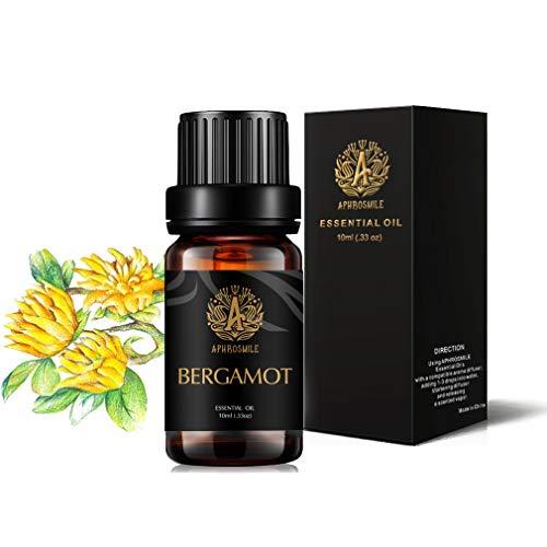 Aromaterapia olio essenziale di bergamotto,100% Pure bergamotto Profumo olio essenziale per diffusore, umidificatore,terapeutico Grade bergamotto Aromaterapia olio essenziale di fragranza 0,33oz-10ml