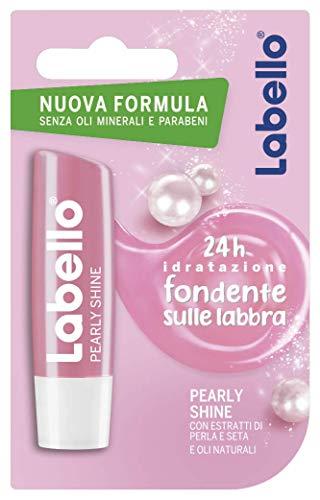 Labello Pearly Shine, Balsamo Labbra per Labbra Morbide e Idratante