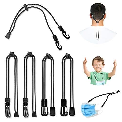 5 Pezzi Cordino per Copertura Facciale, Cinturino Estensibile per la Riduzione della Pressione Dell'orecchio in Lunghezza Regolabile Pratico con Gancio di Supporto Attorno al Collo (5 pack-2)