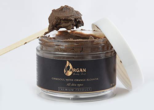 Pasta esfoliante Ghassoul/ maschera per il viso/maschera per capelli/ideale per detergere i pori, rimuovere i punti neri/detossinare la pelle/idratare la pelle e lasciarla meravigliosa/150g