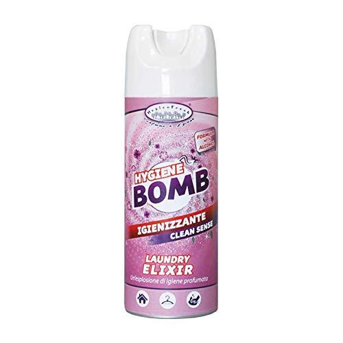 HygienFresh Bomb Fresh Formula con Alcool - Deodorante Spray Igienizzante Ipoallergenico Professionale Tessuti Ambiente Auto Cassetti Scarpe Armadio Hotel Palestra Accessori Lavanderia - 400 ml