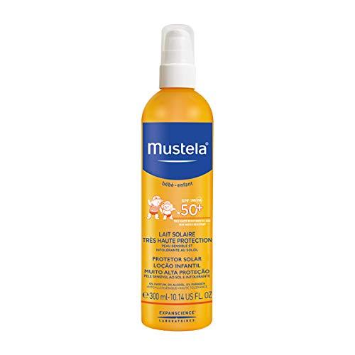 Mustela Latte Solare, efficace e delicato sulla pelle, alta protezione contro i raggi UVA e UVB, 300 ml