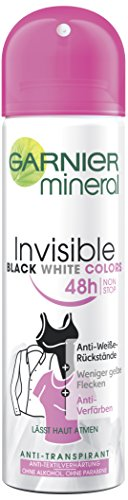 Garnier Mineral Invisible Black, White & Colors Deo Spray, 6er Pack (6 X 150 ML)