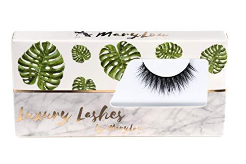 Mary Lou Beauty Luxury Lashes–artificiale ciglia per un naturale wirkenden voluminoesen 3d Look–artificiale PREMIUM ciglia in nero con ricamo contenitore