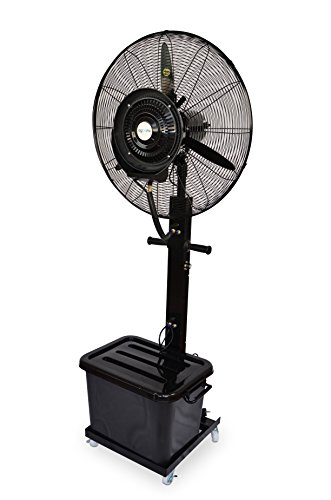 Agoora - Ventilatore Umido Industriale con Ventola Oscillante a Nebulizzatore d'acqua, diametro 65 cm - AG/MF-650