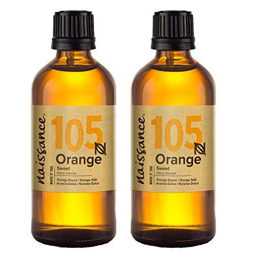 Naissance Olio Essenziale di Arancio Dolce - Puro al 100%, Vegano, Senza OGM - 200ml (2x100ml)