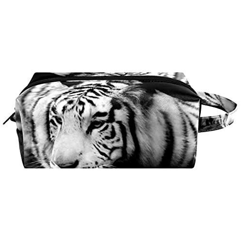 Borse da Toilette,Animale selvatico della tigre siberiana ,make up borse da viaggio,Beauty Case da Viaggio,Cosmetici Trucco Pochette da Toilette Organizer