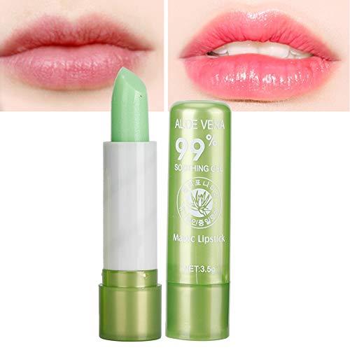 Balsamo labbra aloe vera, rossetto cambiante di colore, per la riparazione idratante del labbro e la cura delle labbra