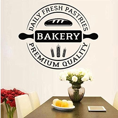 Adesivo murale decalcomania creativa forno cucina cottura forniture fresche panetteria spiga grano carino modello autoadesivo 42x34 cm