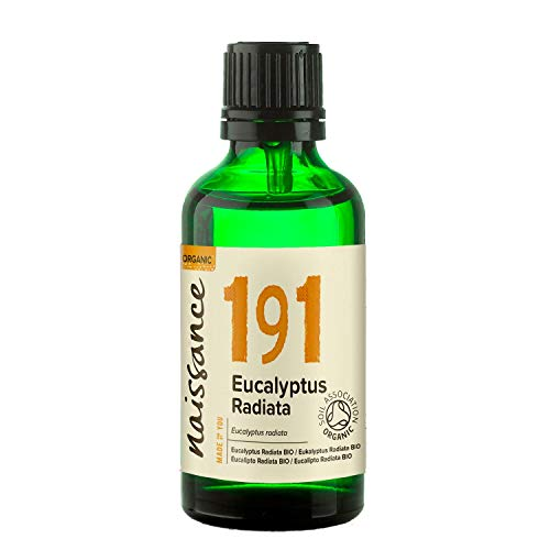 Naissance Olio di Eucalipto Radiata Biologico - Olio Essenziale Puro al 100%, Vegano, senza OGM - 50ml