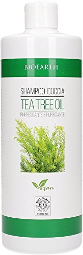 BIOEARTH - Shampoo Doccia Tea Tree Oil - Effetto Antibatterico - Adatto all'Uso Quotidiano - Vegan - 500 ml