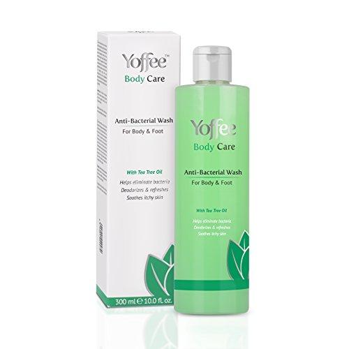 GEL DOCCIA ANTIBATTERICO CON OLIO DI TEA TREE E, OLIO DI COCCO - Aiuta a prevenire ed eliminare batteri e cattivi odori - Allevia il prurito, l'irritazione e l'infiammazione - Vegan / 300ml.