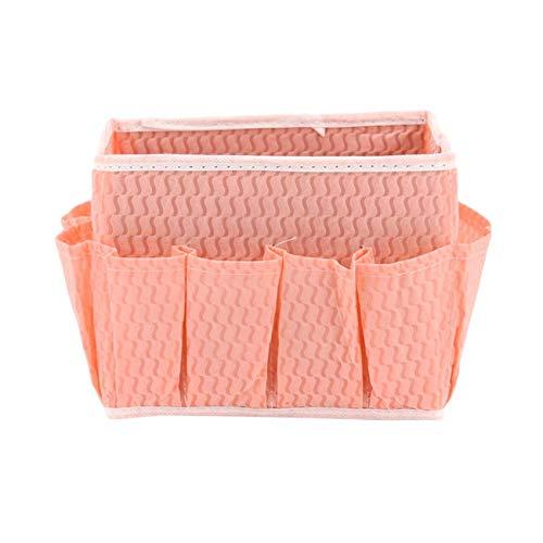 Multi - pocketBorsa per cosmetici Desktop Groceries Storage Containers Makeup Organizer Pink