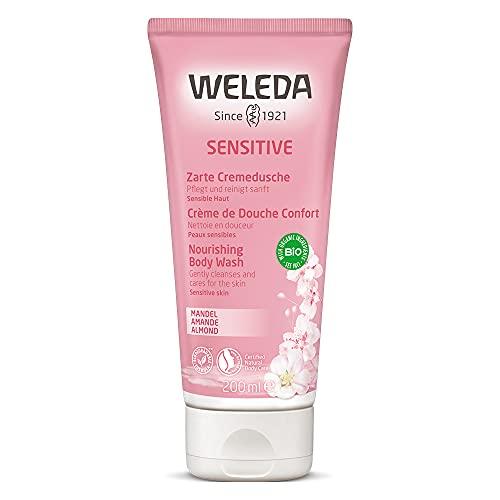 WELEDA - Gel doccia con mandorla sensitive, per pelli sensibili e delicate, cura e pulizia delicata per una sensazione morbida della pelle (1 x 200 ml)