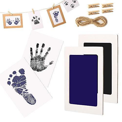 Impronta del bambino e set di impronte delle mani, non tossici sicuri, inchiostro per impronte neonati, cuscinetto del timbro senza tocco, regalo del bambino