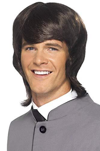 SMIFFYS Parrucca da uomo stile anni '60, castana