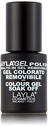 Layla Cosmetics Laylagel Polish Smalto Semipermanente per Unghie con Lampada UV, 1 Confezione da 10 ml, Tonalità Purple Rain