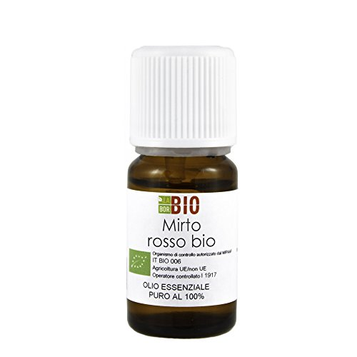 Olio essenziale MIRTO ROSSO BIO 5ML 100% PURO E NATURALE - AROMATERAPIA COSMETICA ALIMENTARE
