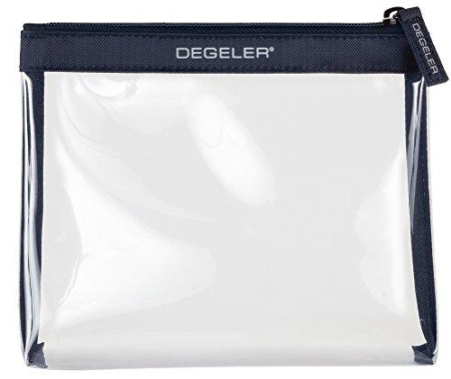 Beauty case trasparente   adatto per trasporto liquidi in Bagaglio a mano   degeler trasparente borsa per Viaggio da Aereo, cosmetici borsa richiudibile con zip - blu