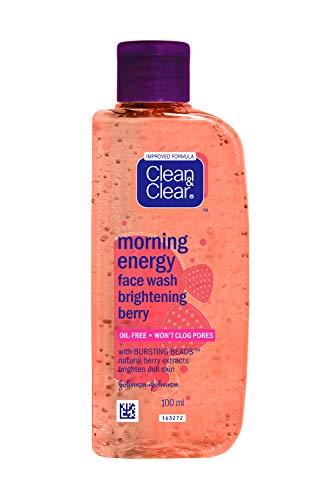 Clean & Clear - Morning Energy Face Wash Brightening Berry Ext Brighten Skin, prodotto per la pulizia del viso, da 100 ml (etichetta in lingua italiana non garantita)