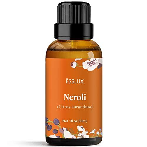 ESSLUX Olio Essenziale di Neroli, Oli Essenziali per Diffusore, Massaggio, Sapone, Candele, Profumo, 30 ml