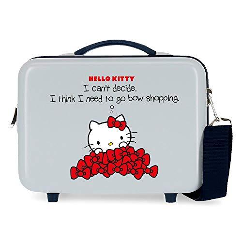 Hello Kitty Bow Of Hello Kitty Beauty case adattabile, 29 x 21 x 15 cm