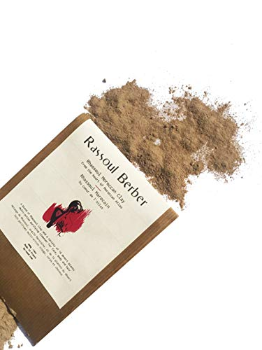 Ghassoul- polvere di argilla berbero Rhassoul Clay piante selvatiche 50 Gr