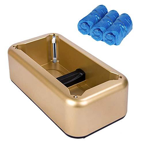 Copriscarpe Portatile Distributore di Copriscarpe per Copriscarpe T-Clips Oro- Con 30 Pieces Copriscarpe