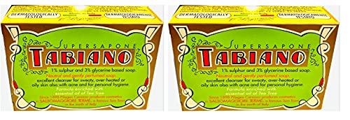 MAUQI - x2'Tabiano Super Sapone con Zolfo 125 grammi' - x2 PEZZI da 125 grammi l'uno - by MAUQI