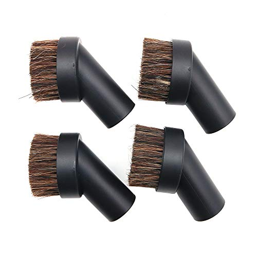 Namvo - Set di 4 spazzole per aspirapolvere in setole di crine di cavallo morbide per spolverare, piccoli angoli rotondi/pista per la pulizia
