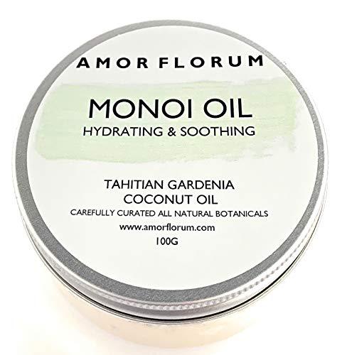 OLIO MONOI con COCCO E GARDENIA TAHITIANA - 100 g - di AMOR FLORUM - Un olio naturale leggero e idratante che lascia la pelle ed i capelli morbidi e idratati.