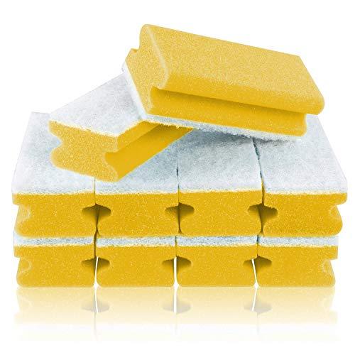 Filzada ® 10x Spugna XXL - Spugna di Pulizia per Cucina, Bagno e casa - 150 x 70 x 40mm (Giallo)