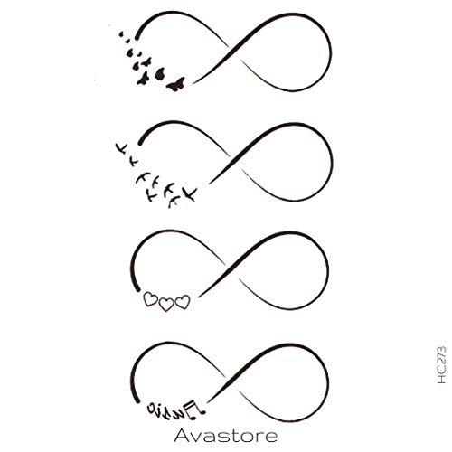 Avastore - Tatuaggio temporaneo da donna, motivo: infinito