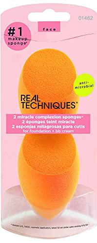Real Techniques, spugnetta Miracle Complexion, confezione da 2 pezzi