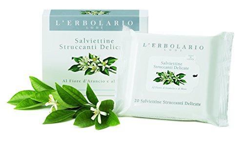 L 'erbolario delicata Salviette come Struccante, 1er Pack (1X 20pezzi)