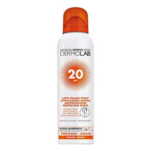 DERMOLAB Solare Spray Corpo - Viso Spf20, Vanilla, 150 Millilitro